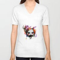 harley V-neck T-shirts featuring Harley Q by ururuty