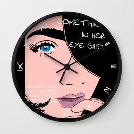 We Made Plans Wall Clock