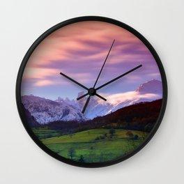 Naranjo de Bulnes (known as Picu Urriellu) Wall Clock