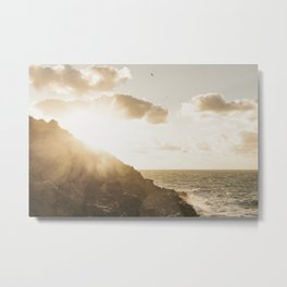 Autumn Sunshine, Pentire, Newquay, Cornwall. Metal Print