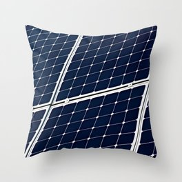 Solar power panel Throw Pillow