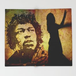 VOODOO CHILD Throw Blanket