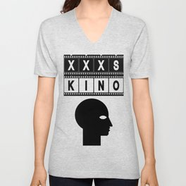 XXXS KINO HEAD FILMSTRIP Unisex V-Neck