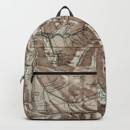 Vintage Map of The White Mountains (1870) Backpack