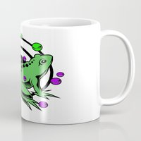 frog Mugs featuring Frog  by Michael P. Moriarty