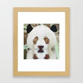 Panda Reflection Framed Art Print
