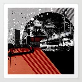CMYK Triptych - Magenta Art Print