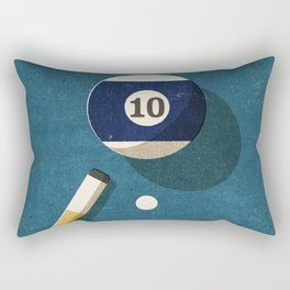 BILLIARDS / Ball 10 Rectangular Pillow