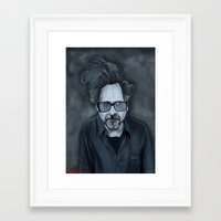 tim burton Framed Art Prints featuring Tim Burton by Kostas Roussos