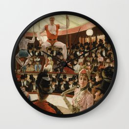 James Tissot - Women of Paris the circus lover Wall Clock