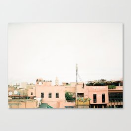 Place des Epices | Roof terraces in Marrakech Morocco | Fine art travel photography print Canvas Print
