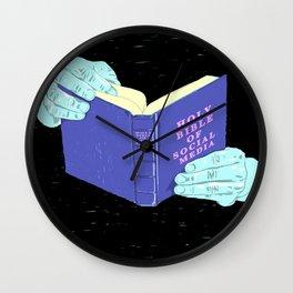 THE HOLY BIBLE OF SOCIAL MEDIA Wall Clock