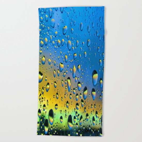 The Rain Watching the Sun Beach Towel