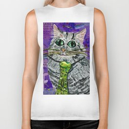 Cat & Fish Tie Biker Tank