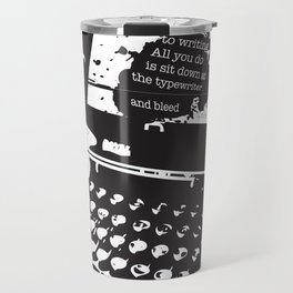 Ernest Hemingway Quote Travel Mug