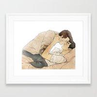 klaine Framed Art Prints featuring Klaine tattoos by suitfer