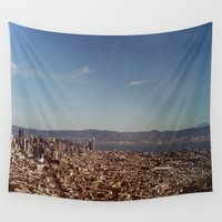 twin peaks Wall Tapestries featuring Twin Peaks by BarbaraJBarton