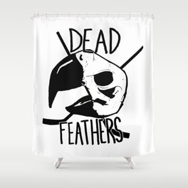 DEAD FEATHERS CREST Shower Curtain