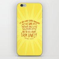 roald dahl iPhone & iPod Skins featuring Roald Dahl on Positive Thinking by Josh LaFayette