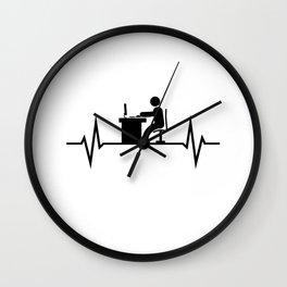 Workaholic Work Heartbeat Wall Clock