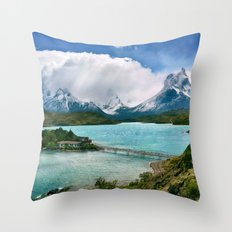 Magestic Landscape #photography #society6 #ocean#mountians Throw Pillow