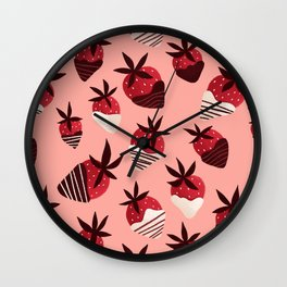 Chocolate Covered Strawberries Wall Clock