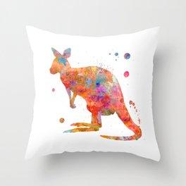 Colorful Kangaroo Throw Pillow