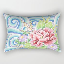 Kimono Bouquet Rectangular Pillow