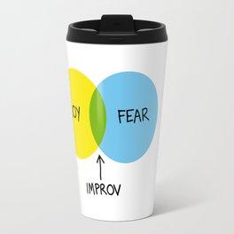 The Venn of Improv (Yellow/Blue) Travel Mug