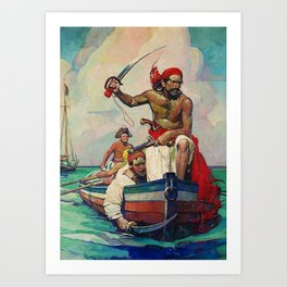 """""""Pirates""""Painting by Frank Earle Schoonover Art Print"""