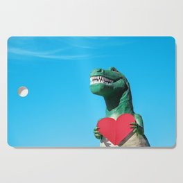 Tiny Arms, Big Heart: Tyrannosaurus Rex with Red Heart Cutting Board