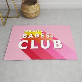 Bad Ass babes club in pink Rug