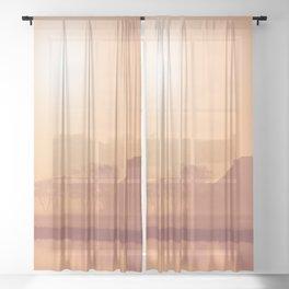 Autumn Silhouette 4 Sheer Curtain