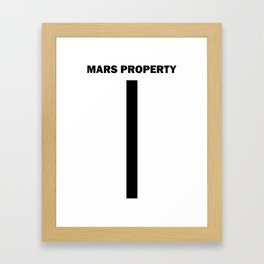 Mars Property 1 Framed Art Print