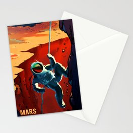NASA Mars Recruitment Poster - Explorers Wanted Stationery Cards