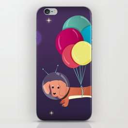 Galaxy Dog with balloons iPhone Skin