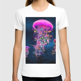 Floating Electric Jellyfish Worlds T-shirt