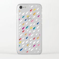 Bright Droplets Clear iPhone Case