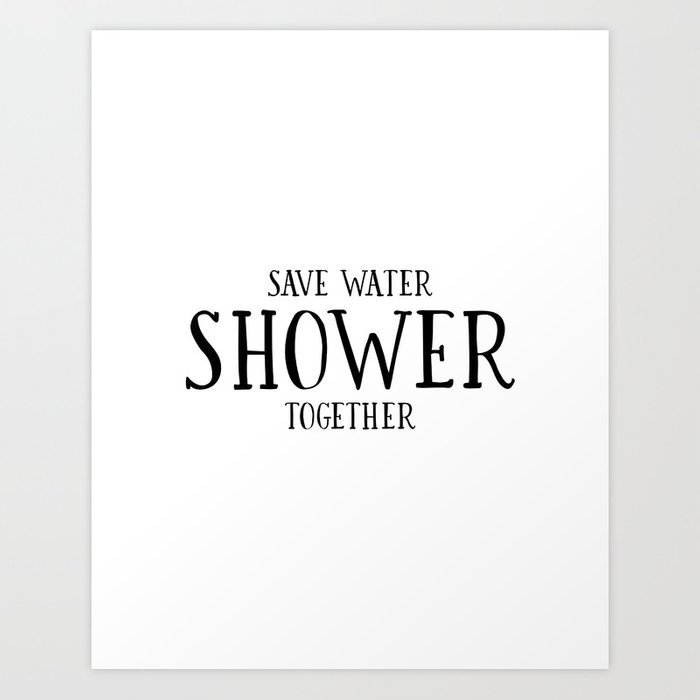 photograph about Printable Bathroom Sign identify PRINTABLE Rest room DECOR, Conserve Drinking water Shower With each other,Amusing Print,Lavatory Indication,Lovly Words and phrases,Delight in Quot Artwork Print by means of alextypography