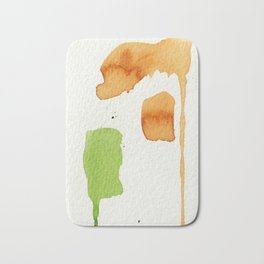 Orange and Green Abstract Art Bath Mat
