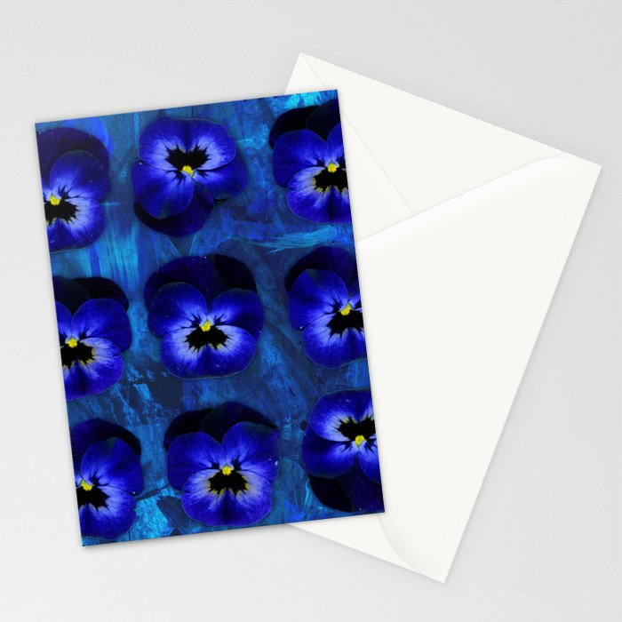 Deep Blue Velvet Stationery Cards
