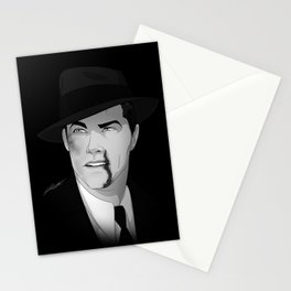 "Robert ""Lefty"" Francis Moretti Noir Portrait Stationery Cards"