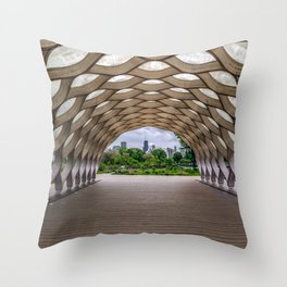 Chicago's Honeycomb in Lincoln Park Throw Pillow