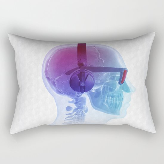 Electronic Music Fan Rectangular Pillow
