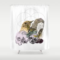 sacred geometry Shower Curtains featuring Sacred by Ashley Payne