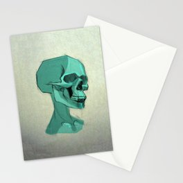 Blue Skull Stationery Cards