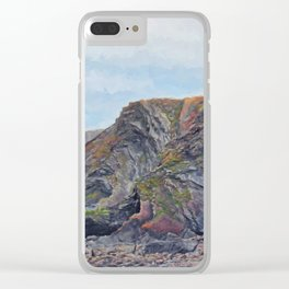 Hartland Quay Cliffs Clear iPhone Case