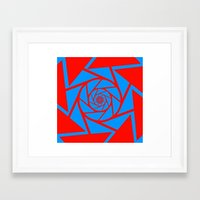 aperture Framed Art Prints featuring Aperture Vector by Alli Vanes