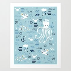 Sea Breeze Art Print
