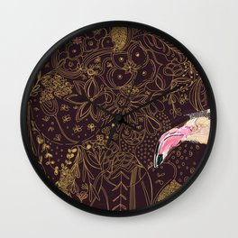 Flamingo and the Elephant Wall Clock